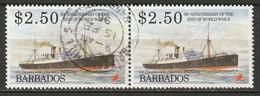 Barbados 1995 Sc 894  Pair Used - Barbades (1966-...)