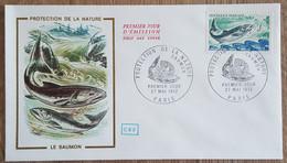 FDC 1972 - YT N°1693 - PROTECTION DE LA NATURE / SAUMON - PARIS - 1970-1979