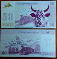 2011 50  VENTI - LATVIA , Lettland , Lettonia  Local Currency Venspils City,cow , Train , Railway , Lokomotive  Unc - Latvia