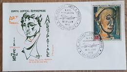YT N°1673 - BIENNALE ARTS & TRAVAIL / AEROSPATIALE - NANTERRE - 1972 - Lettres & Documents