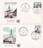 2 Enveloppe FDC 1636 1637 Couvin Maaseik - 1971-80
