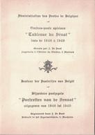 BELGIQUE - ADMINISTRATION DES POSTES DE BELGIQUE - TABLEAUX DU SENAT - TIMBRES-POSTE SPECIAUX - TRYPTIQUE - TRES RARE. - Cartas
