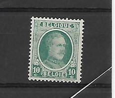 België N° 194V1 Lijntje Ontbreekr Rechts Naast Medaillon Xx Postfris - Errors (Catalogue COB)