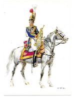 FRANKREICH 1814   -  GENDARMES DE LA GARDE DU RAI - TROMPETER   (ARTIST  W. TRITT) - Uniformes