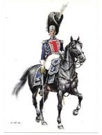 FRANKREICH 1814   -  GRENADIERS A CHEVAL DU ROI - LIEUTENANT COMMANDANT   (ARTIST  W. TRITT) - Uniformes