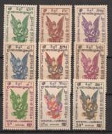 Cambodge - 1953 - Poste Aérienne PA N°Yv. 1 à 9 - Série Complète - Neuf Luxe ** / MNH / Postfrisch - Camboya