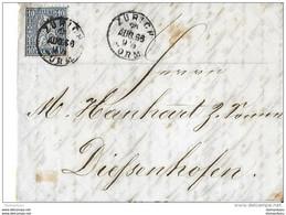 75 - 26 - Enveloppe Envoyée De Zürich 1866 - Briefe U. Dokumente