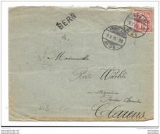 """75 - 27 - Enveloppe Avec Cachets Chemins De Fer """"Ambulant 1902"""" Et Cachet Linéaire Bern - Attention Léger Pli - Briefe U. Dokumente"""