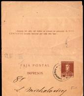Argentina - Circa 1920 - Faja Postal - Bande Postale - General San Martin - 2 Ctv - A1RR2 - Briefe U. Dokumente