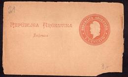 Argentina - Circa 1900 - Faja Postal - Bande Postale - Republica En Medallon - 1 Ctv - A1RR2 - Briefe U. Dokumente