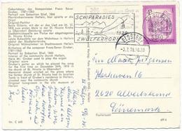Mi 1430 Solo Slogan Postcard Abroad / Composer Franz Xaver Gruber - 28 June 1978 St. Gilgen - 1971-80 Cartas