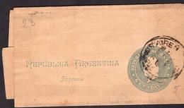 Argentina - Circa 1900 - Faja Postal - Bande Postale - Republica En Medallon - 4 Ctvs - A1RR2 - Briefe U. Dokumente