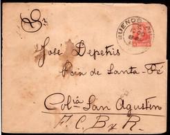 Argentina - 1896 - Lettre - Bernardino Rivadavia - 5 Ctvs - A1RR2 - Briefe U. Dokumente