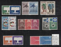 Europa CEPT - Année Complète 1957 Neuf AVEC Charnière - Complete MH Year 1957 - 1957