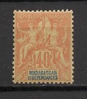 Madagascar - 1896-99 - N°Yv. 37 - Groupe 40c Orange - Neuf Luxe ** / MNH / Postfrisch - Unused Stamps