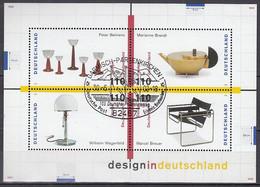 BRD Block 45, Gestempelt, Design In Deutschland 1998 - Blocs