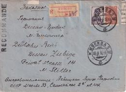 URSS  1936 LETTRE RECOMMANDEE DE MOSCOU  AVEC CACHET ARRIVEE DESSAU - Briefe U. Dokumente