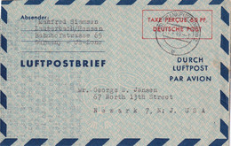BUND 1949 PLI AERIEN DE FRANKFURT - Lettres & Documents