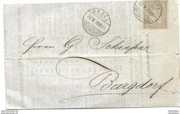 75 - 75 - Lettre Envoyée De Basel 1870 - Briefe U. Dokumente