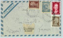 96901 - ARGENTINA - POSTAL HISTORY - Airmail COVER To SWITZERLAND 1954  Evita - Briefe U. Dokumente