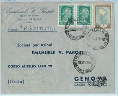 96903 - ARGENTINA - POSTAL HISTORY - Airmail COVER To ITALY 1954 Evita BAHIA BLANCA - Briefe U. Dokumente