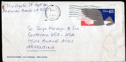 USA - 1991 - Aerogramme - Sent To Argentina - A1RR2 - Cartas