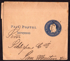 Argentina - Circa 1910 - Faja Postal - Bande Postale - San Martin En Medallon - 1 Ctv - A1RR2 - Briefe U. Dokumente