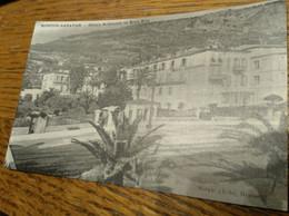 Carte Postale Ancienne Menton Garavan Hôtels Britannia Et Beau Site - Menton