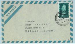 96909 - ARGENTINA - POSTAL HISTORY - Airmail COVER To  ITALY 1955 -  1$  Evita - Briefe U. Dokumente