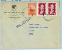 96910 - ARGENTINA - POSTAL HISTORY - Airmail COVER To SWITZERLAND 1955  Evita - Briefe U. Dokumente