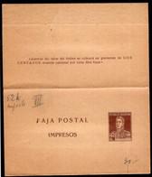 Argentina - Circa 1920 - Masoneria - Faja Postal - Bande Postale - General San Martin - 2 Ctv - A1RR2 - Briefe U. Dokumente