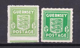 Guernsey - Deutsche Besetzung - 1941/44 - Michel Nr. 1 Farben - Postfrisch - Occupation 1938-45