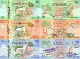 COOK ISLANDS 10 20 50 Dollars ND (1992) P 8 - 10 UNC - Cook Islands