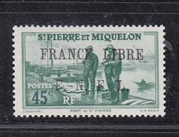 SAINT PIERRE ET MIQUELON FRANCE LIBRE 256 LUXE NEUF SANS CHARNIERE - Nuovi