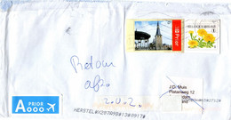 Enveloppe Van Belgie Naar Nederland Amsterdam - Retour - Zoe Herstel.... Etc. - Cartas
