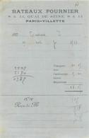 BATEAUX FOURNIER 8 ET 14  QUAI DE SEINE PARIS VILLETTE - 1900 – 1949