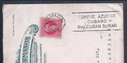 Buy Cuban Sugar.Advertising Streamer Sugar Cuba 1928.Letter Circulated Commercial Habana/Barcelona.Sucrose,lactose.2scan - Levensmiddelen