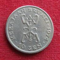 Brunei 10 Sen 1974 KM# 11 *V1 - Brunei