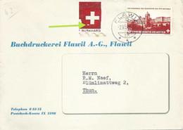 """Motiv Brief  """"Buchdruckerei Flawil""""  (Markenabart)          1943 - Briefe U. Dokumente"""