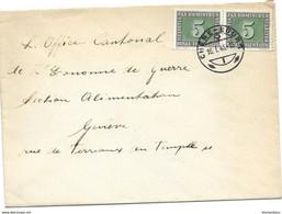 I - 54 - Enveloppe Avec 2 Timbres Pax Et Superbe Cachet à Date Chêne-Bourg 1946 - Briefe U. Dokumente