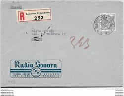 I - 17 -  Enveloppe Recommandée Lausanne 9 Chaudron 1947 - Briefe U. Dokumente