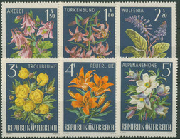 Österreich 1966 Pflanzen Blumen Alpenblumen 1209/14 Postfrisch - 1961-70 Nuevos & Fijasellos