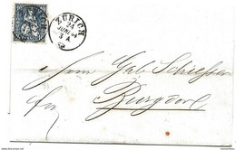 I - 30 - Lettre Envoyé De Zürich 1864 - Briefe U. Dokumente