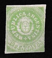 Scott No 7 F 10 Centavos Green - Ohne Zuordnung