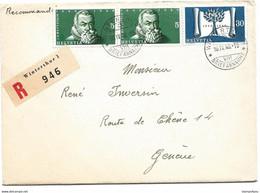 1 - 38 - Enveloppe Recommandée Envoyée De Winterthur à Genève 1948 - Briefe U. Dokumente