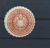 Elsass - Lothringen - Eisenbahn - Strassburg - Old Paper Seal - Cinderella - Vignette - Elzas-Lotharingen