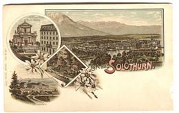 Gruss Aus SOLOTHURN Carte Litho (small Scratches) C. 1904 - SO Soleure