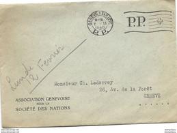 """I - 39 - Enveloppe Avec Oblit Mécanique """"PP"""" .Genève 1940 - Briefe U. Dokumente"""