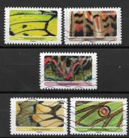 France 2020  Oblitéré Autoadhésif  N° 1801 - 1807 - 1809 - 1810 - 1811 -  Effets Papillons - Adhesive Stamps