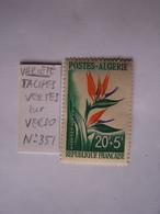 ALGERIE 1958 NEUF VARIETE SUR VERSO SECOURS AUX ENFANTS: TACHES VERTES - Nuovi